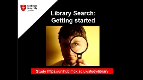 Thumbnail for entry Library  Search Getting Started - August 27th 2020