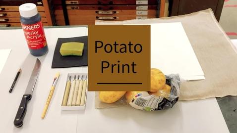 Thumbnail for entry potato print