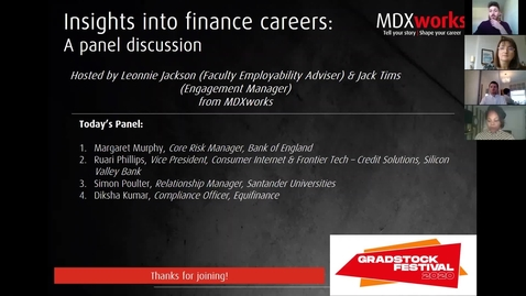 Thumbnail for entry Insights into finance careers-a panel discussion