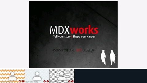 Thumbnail for entry Rec - 19 Jun 2020 14:56 - MDXworks Careers and Employability Service.mp4