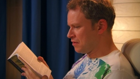 Thumbnail for entry Mark Teaches Jez How To Read - Peep Show