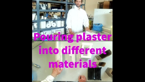 Thumbnail for entry Pouring plaster into different materials