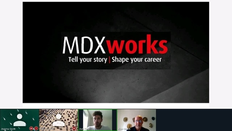 Thumbnail for entry Rec - 7 Jul 2020 13:07 - MDXworks Careers and Employability Service.mp4