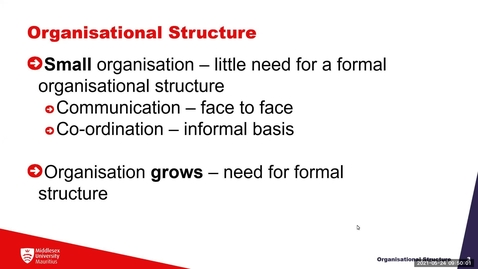 Thumbnail for entry Block 4b - Organisational  structure (24/5/21)