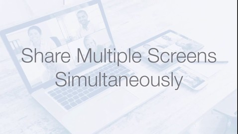 Thumbnail for entry Share Multiple Screens Simultaneously Zoom