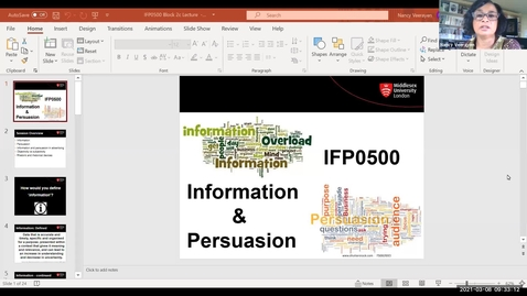 Thumbnail for entry Block 2c - Lecture - Information and Persuasion (8/3/21)