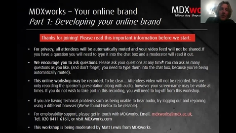 Thumbnail for entry Online branding Part 1_Developing your Online Brand