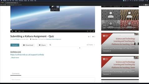 Thumbnail for entry Kaltura Quiz Tool