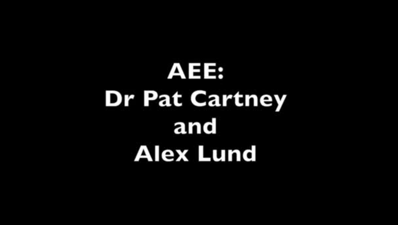 AEE promo: Dr Pat Cartney and Alex Lund