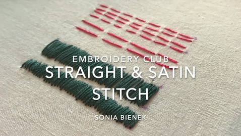 Thumbnail for entry Straight and Satin Stitch
