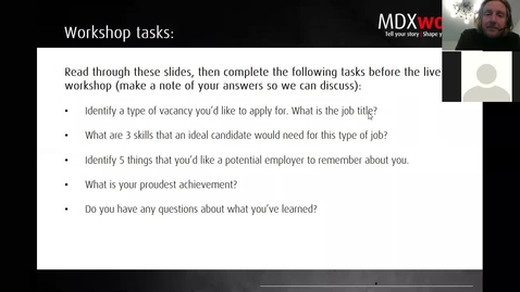 Thumbnail for entry Cover Letters Workshop  - 27 05 2021