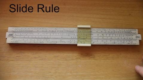 Thumbnail for entry Application of logarithms - slide rule