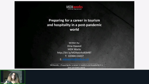 Thumbnail for entry Rec - 20 Aug 2020 13:09 - MDXworks Careers and Employability Service.mp4