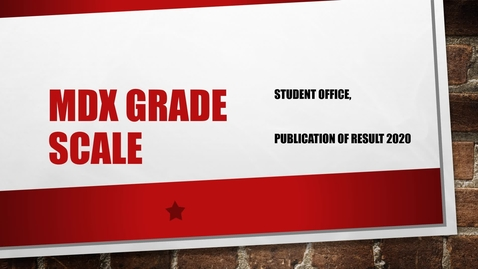 Thumbnail for entry MDX Grading system