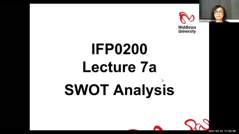 Thumbnail for entry Block 7a - Lecture - SWOT Analysis (22/2/21)