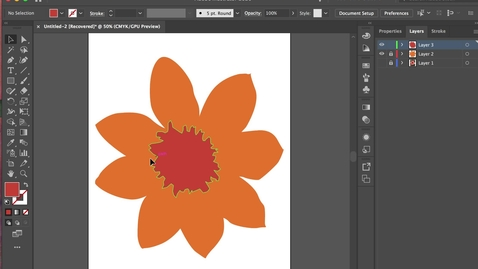 Thumbnail for entry illustrator 6- Copy + Paste +  Transform  +  Gradients
