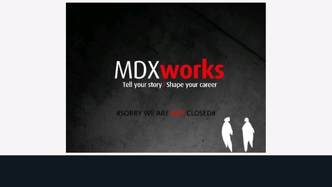Thumbnail for entry Rec - 11 Aug 2020 13:01 - MDXworks Careers and Employability Service.mp4