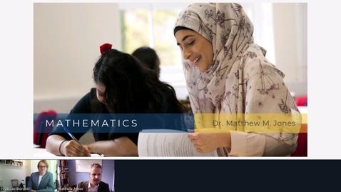 Thumbnail for entry Rec - 5 Jun 2020 12:06 - Mathematics at Middlesex University.mp4