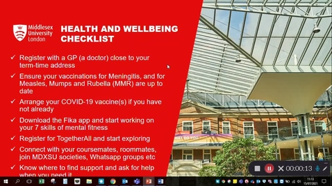 Thumbnail for entry 21-22: RfA Health and Wellbeing Checklist