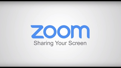 Thumbnail for entry Sharing Your Screen Zoom