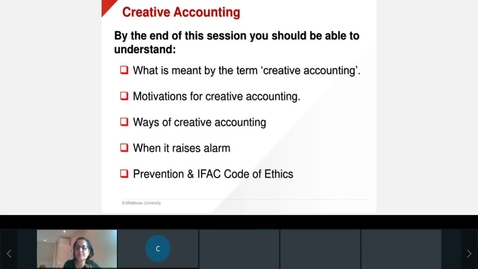 Thumbnail for entry Unit 14  Creative Accounting  Lecture Firoozeh  Monday Mar 15, 2021