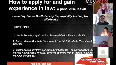 Thumbnail for entry Succeeding in the legal secto-a panel discussion