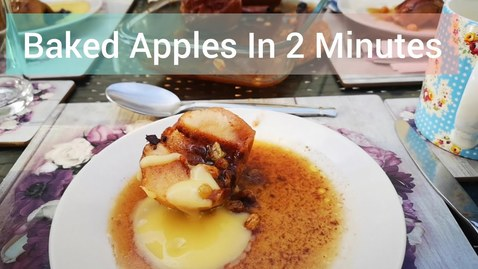 Thumbnail for entry Baked Apples In 2 Minutes | Stay Home & Bake