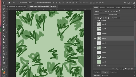 Thumbnail for entry photoshop 14 - Making and Customising a Brush