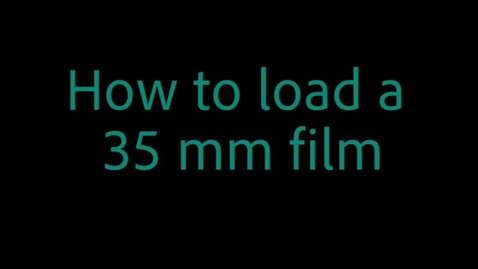 Thumbnail for entry How to load a 35mm film for processing