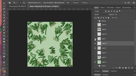 Thumbnail for entry photoshop 12 - Importing Bushes + Editing