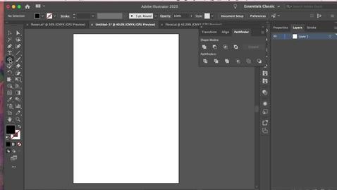 Thumbnail for entry illustrator 8 - Shapes + Pathfinder