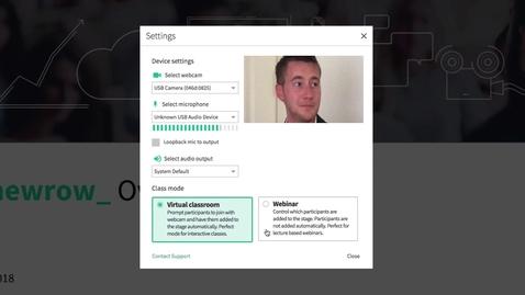 Thumbnail for entry Virtual Classroom Mode