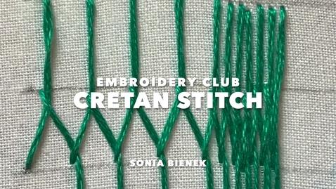 Thumbnail for entry Cretan Stitch