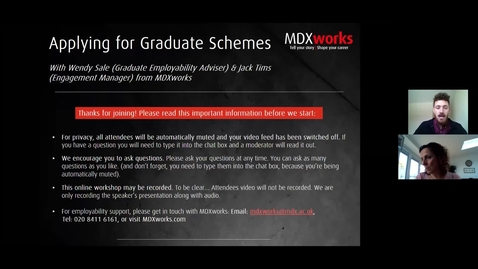 Thumbnail for entry Applying for Graduate Schemes