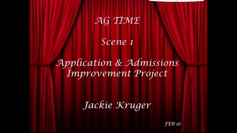 Thumbnail for entry CCSS Showcase 1 - Application and Admissions Improvement Project