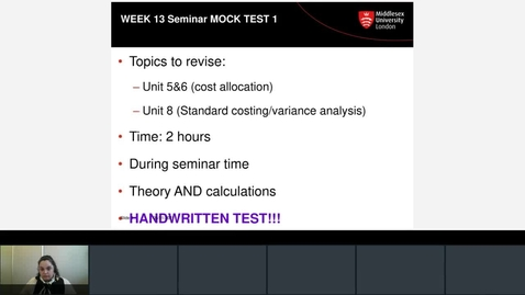 Thumbnail for entry Mock Test 1 instructions 2020/21