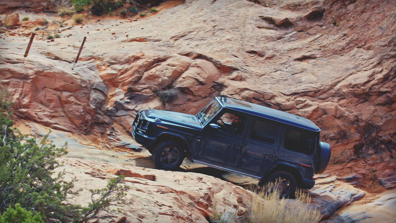 Behind the Wheel: Jonny Lieberman Jumps, Crawls, and Drifts the Mercedes G-Wagen