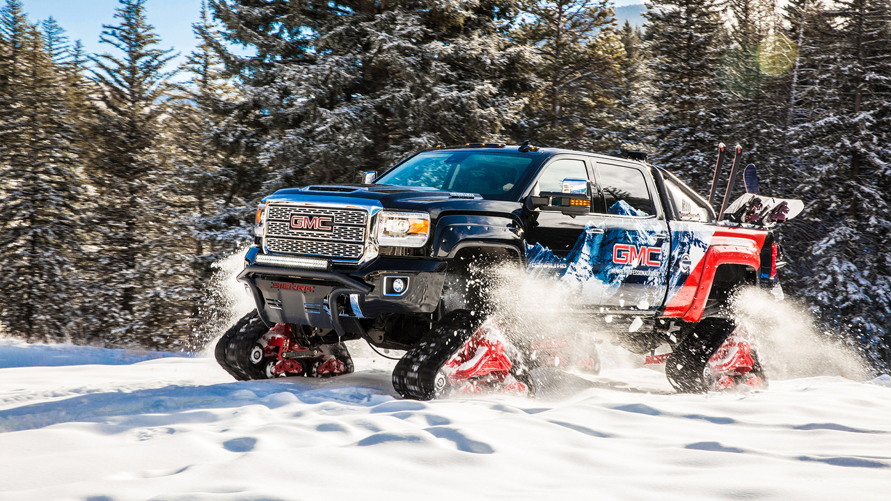 Behind the Wheel of GMC's Mattracks-Equipped Sierra All Mountain Concept