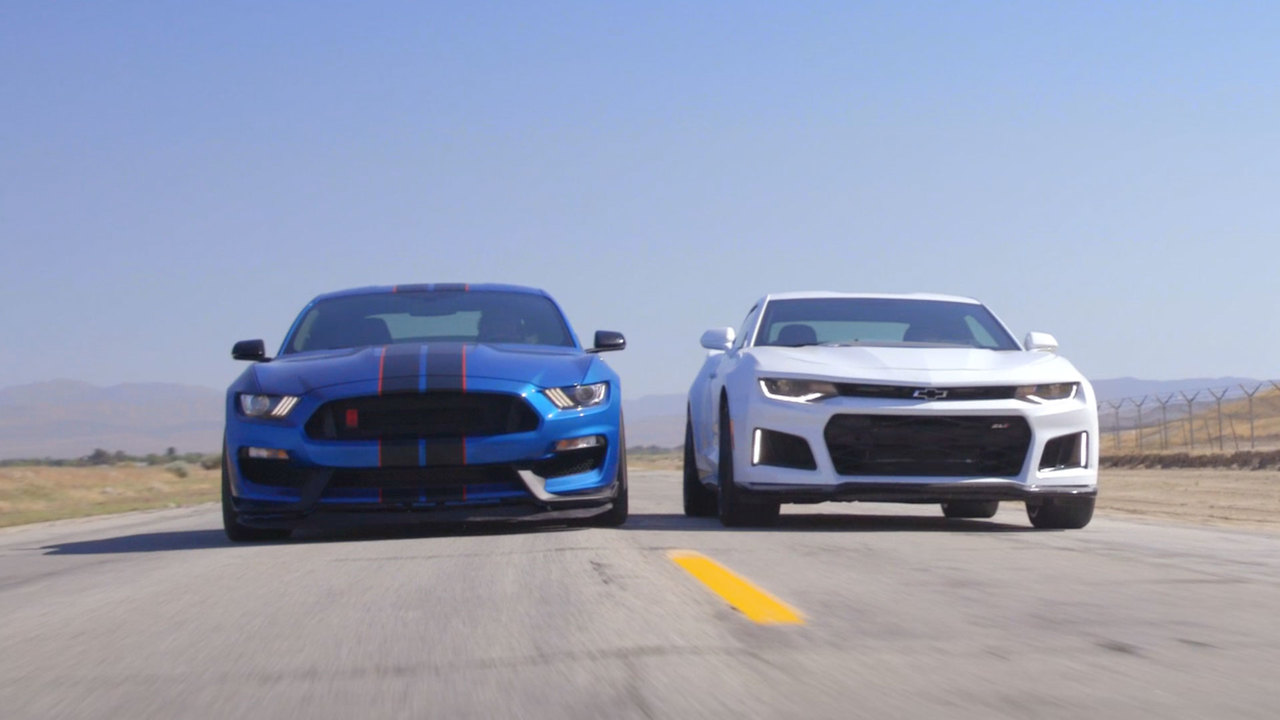 2017 Chevrolet Camaro ZL1 vs. 2017 Ford Shelby Mustang GT350R