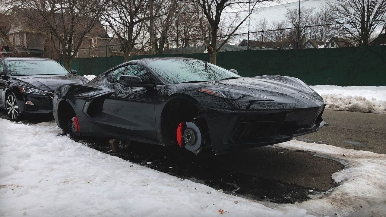 MotorTrend Exclusive: What We Know About the 2020 C8 Corvette With Jacked Wheels