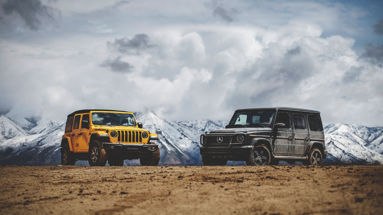 Head2Head: Mercedes G550 vs. Jeep Wrangler Rubicon
