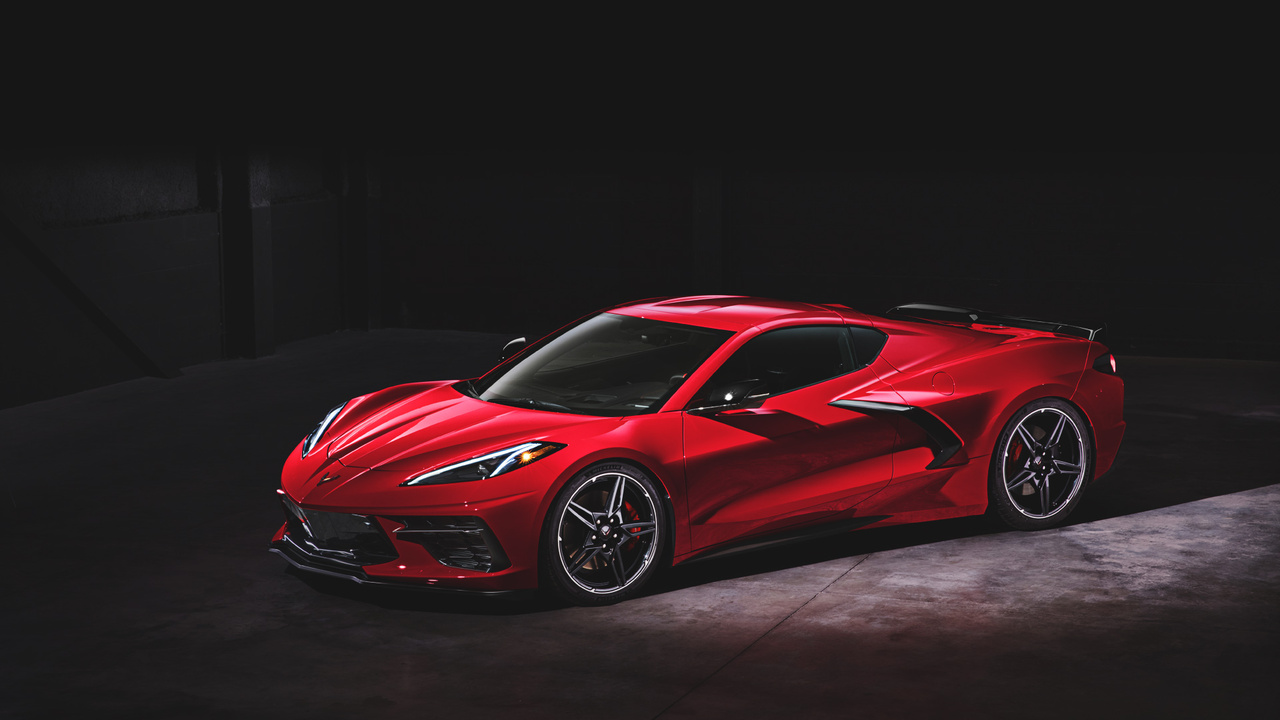 Editor-in-Chief Ed Loh in Chevrolet's Mock 2020 Corvette Stingray Showroom