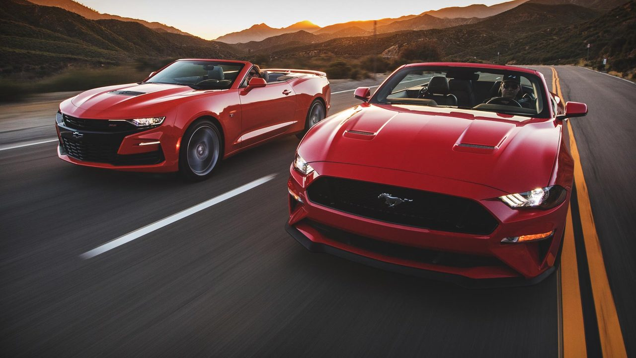 Battle Of The Ponycar Convertibles Mustang Gt Vs Camaro Ss