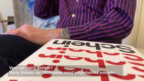 """Per Vesterlund om boken """"Schein: En biografi"""""""