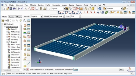 Orthotropic deck in Abaqus 3(4)