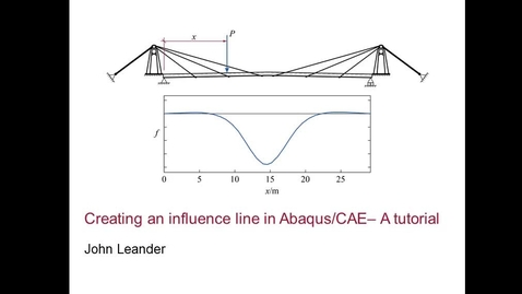 Influence line in Abaqus CAE 1(2)