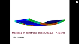 Thumbnail for entry Orthotropic deck in Abaqus 1(4)