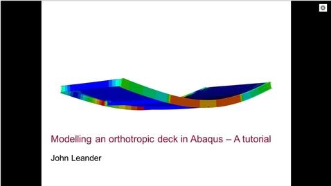 Orthotropic deck in Abaqus 1(4)