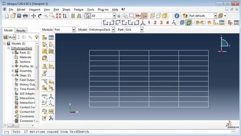 Orthotropic deck in Abaqus 2(4)