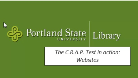 The C.R.A.P. Test in action- Websites
